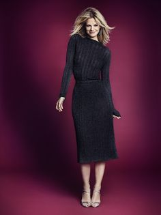 Glittery ribbed sweater and skirt | Gina Tricot Collections | www.ginatricot.com | #ginatricot