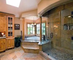 Rustic Bathroom Design in San Diego