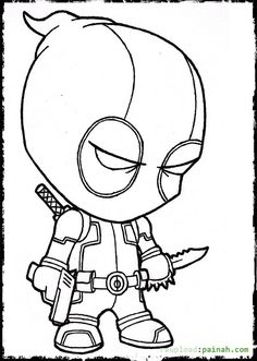 deadpool coloring pages 05