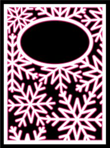 Snowflake Card Cover by Bird