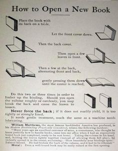 Lesson one: how to open a book.