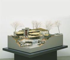 "archimodels: ""© frank lloyd wright - falling water house """
