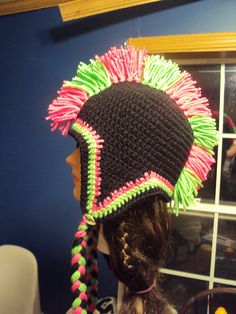 Mohawk hat, my own pattern
