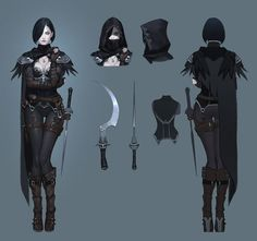 member of 'Order of the Crow,' prev'ly. influenced by Robrenn  [ArtStation - Assassin Crow concept, Seok Jeon]