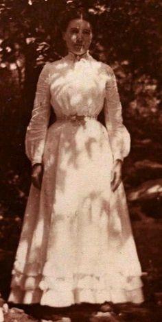 Laura Ingalls Wilder at age 30 in 1900 on Rocky Ridge Farm