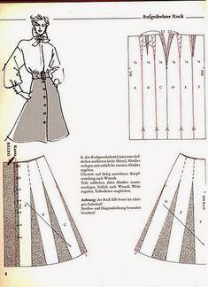 modelist kitapları: 6 Systemschnitt_1 Skirt Patterns Sewing, Clothing Patterns, Sewing Basics, Sewing Hacks, Patron Vintage, How To Make Clothes, Pattern Drafting, Pants Pattern, A Line Skirt Pattern