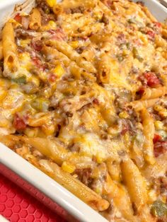 Sloppy Joe Casserole is part of Easy casserole recipes This sloppy joe casserole recipe is the perfect comfort food This easy to make casserole can be had in only 1 hour - Easy Casserole Recipes, Casserole Dishes, Breakfast Casserole, Chicken Casserole, Veggie Casserole, Beef Dishes, Pasta Dishes, Food Dishes, Hamburger Meat Dishes