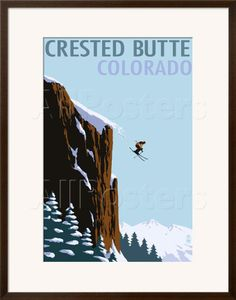 Crested Butte, Colorado - Skier Jumping Posters by Lantern Press at AllPosters.com