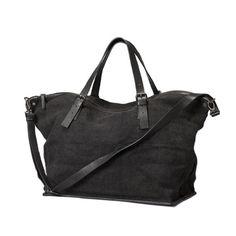 paperplanestore.com - Leather & jute Overnight Bag