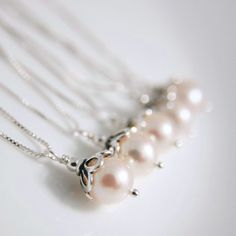 White Freshwater Pearl Necklace on Etsy, $20.00