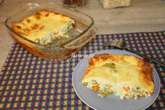 BUDINCA DE LEGUME Cheddar, Broccoli, Good Food, Pie, Dinner, Desserts, Gratin, Torte, Dining