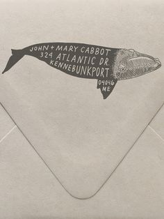 Whale Custom Stamp | Sycamore Street Press