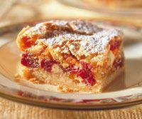 Brandied Cranberry-Apricot Bars Recipe - these came out great.
