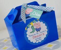 Personalizado niños PEPPA Pig GEORGE Pig cumpleaños fiesta