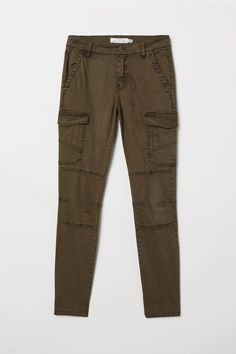 b6bb28faf2 Lyocell-blend Cargo Pants. Dark Green ...