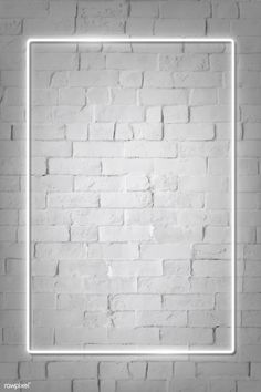 rectangle white neon frame on a white brick wall vector premium image by rawpixel com manotang 7 # Framed Wallpaper, Neon Wallpaper, White Wallpaper, Aesthetic Iphone Wallpaper, Screen Wallpaper, Brick Wallpaper Iphone, Shabby Chic Wallpaper, Aesthetic Backgrounds, Aesthetic Wallpapers