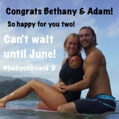 OMG Bethany's going to have a baby! I can't wait until June! She's going to be a perfect mom! Famous Surfers, Bethany Hamilton, Professional Surfers, Surfing Tips, Having A Baby Boy, Soul Surfer, Learn To Surf, Beach Trip, Role Models
