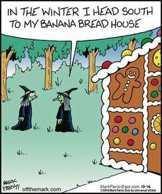 Dying for Chocolate: Cartoon of the Day: Gingerbread House Vintage Halloween, Fall Halloween, Halloween Crafts, Happy Halloween, Funny Cartoons, Funny Comics, Funny Jokes, Hilarious, Halloween Cartoons