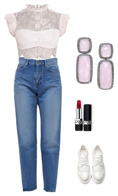 """""""outfit"""" by mariapiasarcina on Polyvore featuring Yves Saint Laurent, Christian Dior and Paul & Pitü Naturally"""