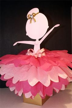 Ballerina Centerpieces Ballerina centerpiece & Ballerina Tutu Party Banner. Baby girl Birthday Party Bunting ...