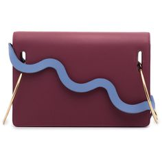 Roksanda Burgundy Dora Leather Shoulder Bag ($1,617) ❤ liked on Polyvore featuring bags, handbags, shoulder bags, purple purse, burgundy purses, purple shoulder bag, burgundy leather handbags and genuine leather handbags