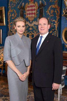 Very noble princess Charlene and I like the way she dress, she is very noble, beautiful too.