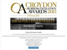 We are honoured to be selected as Finalists for Tech Innovation in the Croydon Business Excellence Awards 2015: http://www.answers.uk.com/services/croydonbusinessawards2015.htm  With our thanks to the judges, our clients, Croydon Awards and White Label Events Answers Investigation, Private Detectives http://www.answers.uk.com T: 020 8479 3384