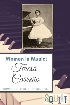 Women in Music: Teresa Carreño.  Learn about this composer, download a free Draw What You Hear sheet, and use the curated playlist and suggested resources. Music Do, Art Music, Good Music, Homeschool Curriculum, Homeschooling, Music Writing, Hispanic Heritage, Women In Music, Heritage Month