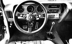 1970 Pontiac GTO, interior.