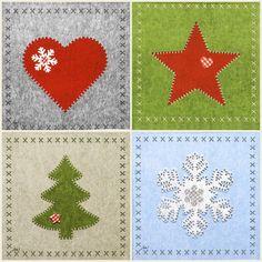 4x Paper Napkins-Felt Christmas Mix - for Party, Decoupage Craft