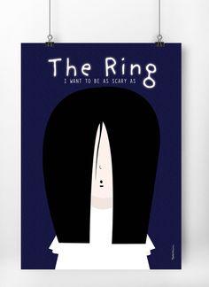 Little Ringu Scary, Illustration, Modern, Design, Trendy Tree, Im Scared, Illustrations, Macabre