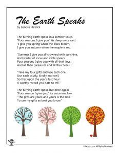 Mother Earth Poem, Earth Day Poems, Poems For Him, Kids Poems, English Poems For Children, Moon Poems, Kindergarten Poems, Nature Poem, Funeral Poems
