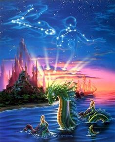 Decorate your home or office with this beautiful museum quality art reproduction of underwater mermaid & Ocean Dragon fantasy delight Wall Décor art print poster. This lady mermaid poster will be a great addition for home and helps to bring humor into your beautiful home walls. It would be a great addition for your kid's room. Hurry up! Grab this beautiful fantasy wall poster for its high quality paper with a high degree of color accuracy which ensures long lasting beauty of the product.