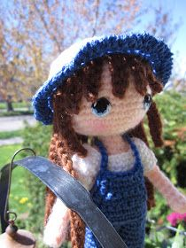 Columbine was made from a wonderful crochet doll pattern which is freely available on Ravelry. The pattern is Yun Shu . She is crocheted...