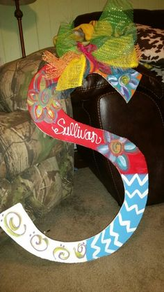 Custom letter for door or wall Instagram deepsouthsassysisters for more info or to order