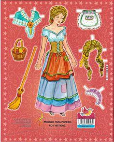 Princess Paper Doll - Cinderella | Gabi's Paper Dolls