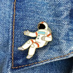 Enamel pins are fun, quirky & retro. Wear them on your denim jacket, blouse or backpack.  Our pins are outlined in gold metal & come with a gold