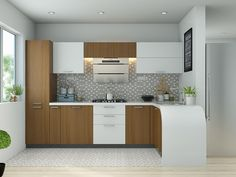 modular kitchen cabinets features and varieties, and also modular kitchen colors and the latest modern kitchen ideas 2019 L Shaped Modular Kitchen, L Shaped Kitchen Designs, Kitchen Design Open, Beautiful Kitchen Designs, Kitchen Cabinet Design, Beautiful Kitchens, Interior Design Kitchen, Kitchen Decor, L Shape Kitchen