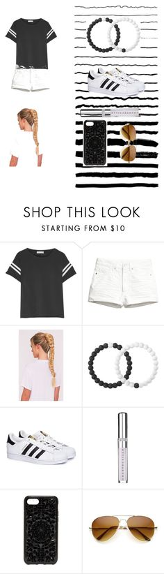 """""""Black and white"""" by glennaprior ❤ liked on Polyvore featuring rag & bone, Lokai, adidas, Chantecaille and Felony Case"""