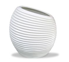 The Spiral planter has a unique in shape and personality that will create an interesting and beautiful environment. Concave circles wrap around to add texture. The tilted angle adds character to its already unconventional appearance.