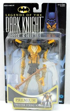 Legends of the Dark Knight TWISTER STRIKE SCARECROW Premium Action Figure 1996 #Kenner