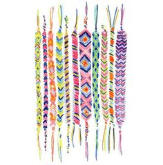 Summer kid's craft - friendship bracelets - we made so many of these as children of the 80's!
