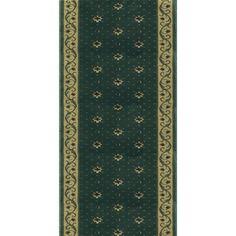 Rivington Rockwall Basil Runner Rug (2.2 X 15.0), Green, Size 2'2 x 15' (Olefin, Floral)