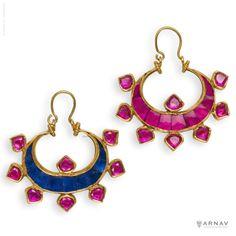 The Two Faces of Chandra Earrings - Arnav