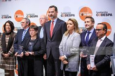 King Felipe VI of Spain (C) attends the 'Codespa' awards ceremony at the 'Rafael del Pino' auditorium on January 16, 2015 in Madrid, Spain.