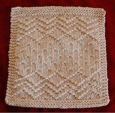 knit dishcloth pattern free on ravelry