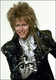 Mister David Bowie as the Gobblin King. I loves The Labrynth. I still love his smile.
