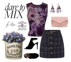 """""""dare to mix"""" by coolmommy44 ❤ liked on Polyvore featuring Versace, Tory Burch, Improvements, Jennifer Lopez, Pomellato, Lulu*s, polyvorecontest and patternmixing"""