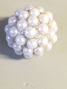 Final touch new hardware - gorgeous pearl cluster with added glitter. They catch the light and sparkle added girly touch to a dressing table.