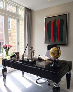 Excited to share a glimpse of our painting 'Sans Titre III' by Oscar Gauthier taking pride of place in this stylish open plan office in Knightsbridge.